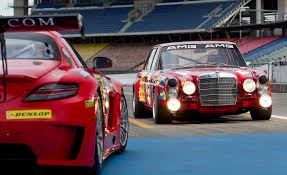 mercedes benz jeep red retro liveried sls amg gt3 honors legendary red sow will compete