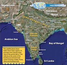 Geographical Map Of India by Hindu India 300 To 1100 Ce U2014 Section 1