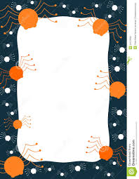 spiders and cobwebs halloween border frame stock photo image