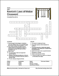 free printable newton u0027s laws of motion word search