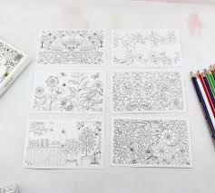 secret garden colouring book postcards secret garden colouring books billies flower house