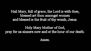the hail mary text and audio youtube