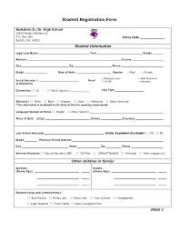 Registration Form Template Excel Enrollment Form Template