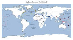 Uk World Map by Map Of World War 2 Air Ferry Routes Deparkes