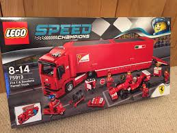 lego ferrari lego f14 t u0026 scuderia ferrari truck review set 75913 one dad