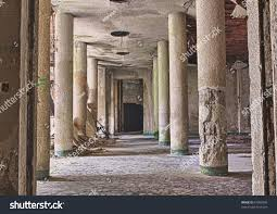 interior abandoned building rubble debris destroyed stock photo