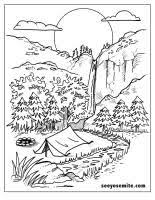 nature scene coloring pages paisagem para colorir pinterest embroidery painting