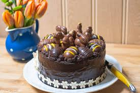 Decorating Easter Chocolate Eggs by Easter Chocolate Praline Layer Cake The Co Op Maison Cupcake