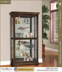 curio cabinet console curio display cabinet cherry finish back
