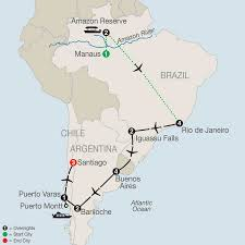 South America Rivers Map by Amazon U0026 South America Tours Globus Travel