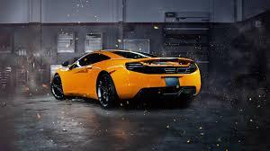 orange mclaren 12c mclaren car mclaren mp4 12c orange effects supercars