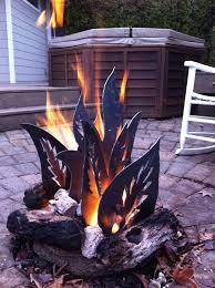 Backyard Firepit Ideas Best 25 Metal Fire Pit Ideas On Pinterest Rustic Firewood Racks