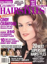 soap stars hairstyles cindy crawford celebrity hairstyles magazine may 1995 cover photo