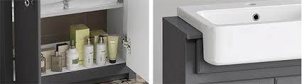Grey Vanity Unit 667mm Cambridge Midnight Grey Floorstanding Basin Vanity Unit