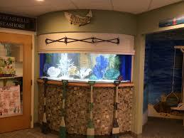 custom acrylic aquarium focal point waiting room nautical theme