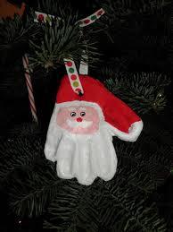 how to make a clay santa print ornament