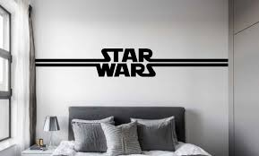 exclusive star wars logo for kids decals star wars logo wall decal
