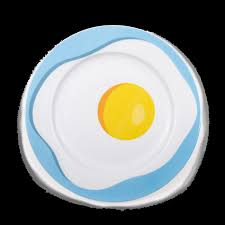 egg plate by studio for seletti egg porcelain plate gessato