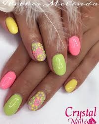neon nail designs for a burst of bright colors