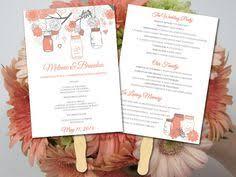 jar wedding programs winter wedding program template by paintthedaydesigns