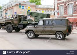 uaz special armored vehicle uaz 3152 hussar and bm 21 grad multiple