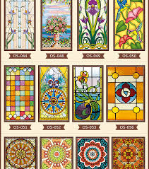 mini stained glass ls custom electrostatic frosted stained glass window film church home