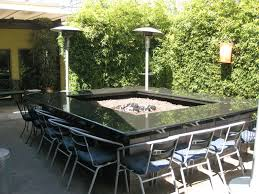 Granite Fire Pit by Dining Room Fascinating Round Black Granite Fire Pit Dining Table