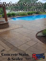 Color Concrete Patio by 63 Best Concrete Patio Makeovers Images On Pinterest Concrete