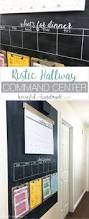 best 25 chalkboard wall calendars ideas on pinterest family a rustic hallway command center is the perfect way to organize your families lives includes a chalkboard giant wall calendar chore charts