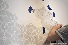 sarah m dorsey designs tv wall trellis stencil progress