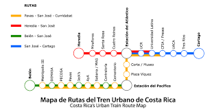 San Jose Costa Rica Map by