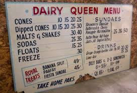 queens table food truck menu rare antique dairy queen menu sign reader board 899 obo