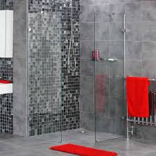 Towel Decoration For Bathroom by 25 Grey Wall Tiles For Bathroom Ideas And Pictures