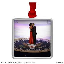 barack and obama metal ornament obama
