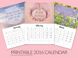 printable calendar 2016 etsy printable desktop calendars for 2016 now in my etsy shop beautiful