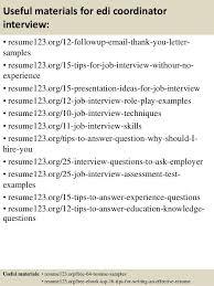 Edi Consultant Resume Edi Coordinator Top 8 Edi Coordinator Resume Samples 1