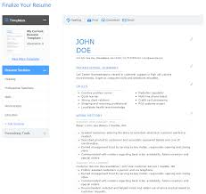 Easy Resumes Resume Builders Free Free Resume Example And Writing Download