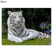 blanket comfort warmth plush white tiger grass camouflage tiger