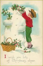 vintage christmas snowman couple christmas snowman pinterest