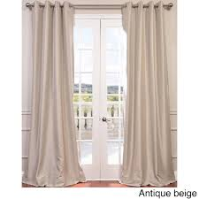 exclusive fabrics grommet blackout faux silk taffeta 96 inch length curtain panel copper brown size 50 x 96 nylon solid