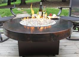 Gas Fire Pit Table And Chairs Furniture Geometric Brown Marble Granite Gas Fire Pit Tables Plus
