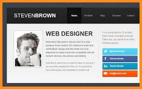 Website Resume Template Resume Web Site Cbshow Co