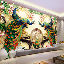 compare prices on peacock wall murals online shopping buy low custom 3d wall mural wallpaper 3d non woven peacock living room tv background large wall