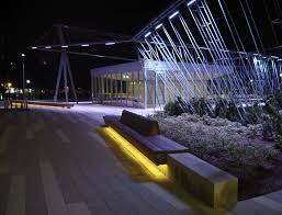 Bench Lighting Wishard Pavilion U2014 Tillett Lighting Design Associates