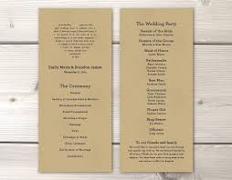 customizable wedding programs printable digital or printed wedding program physical programs