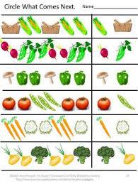 fruit and vegetable worksheet set pk k special education autism
