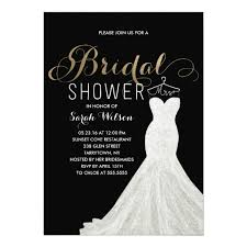 bridal card extravagant dress gold custom color bridal shower card zazzle
