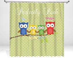 Owl Shower Curtains Owl Shower Curtain Etsy
