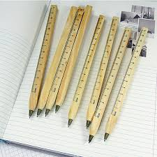 Handcrafted Wooden Pens - 1pcs lot new handmade wooden environmental ruler design manual diy