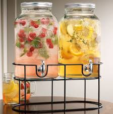 Kitchen Accessory Ideas by Furniture Double Manson Jar Beverage Dispenser With Black Metal